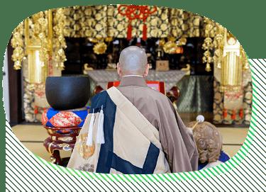 安心定額でご寺院様のご紹介も承っております